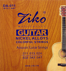 Colorful Acoustic Guitar Strings by Ziko