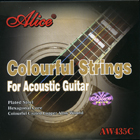 Colourful Acoustic Guitar Strings (Gold-Plated Ball-Ends) by Alice