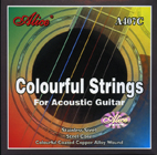 Colourful Acoustic Guitar Strings (NickelPlated BallEnds) by Alice