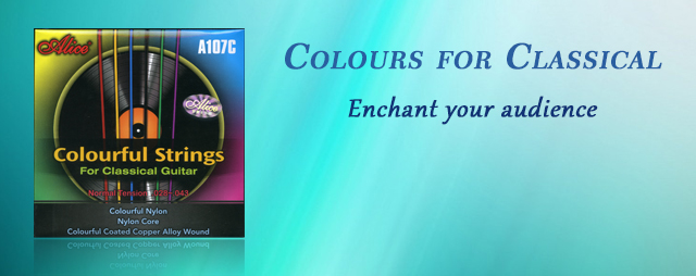 Colourful Classical Guitar Strings by Alice