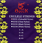 Colourful Ukulele Strings by Spock